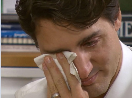 Justin Trudeau weeps in tribute to Canadian music icon