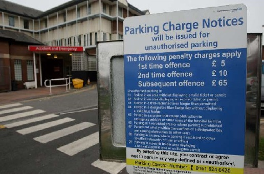 NHS hospitals made £174m from car park charges this year