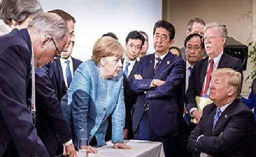 Merkel shares photo of her with Trump on sidelines of G7