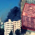 Israeli airstrikes topple media tower and hit home of Hamas leader